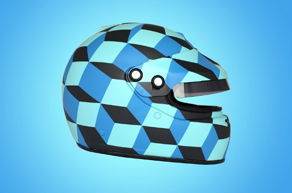 Necker Cube Helmet