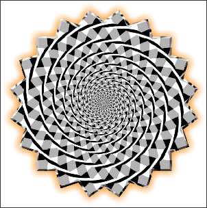 Moving Spiral Optical Illusion