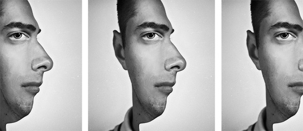 Two Face Optical Illusion