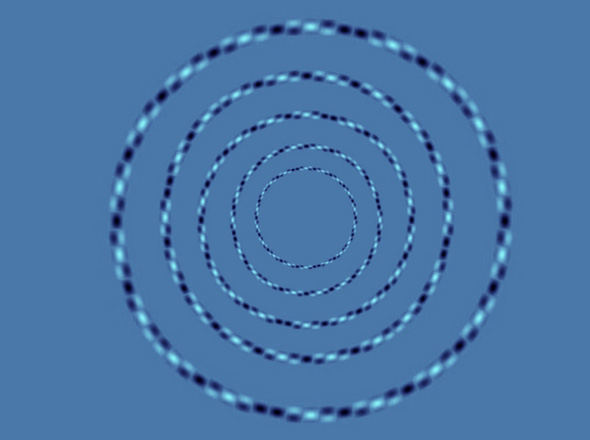 Perfect Circles Optical Illusion