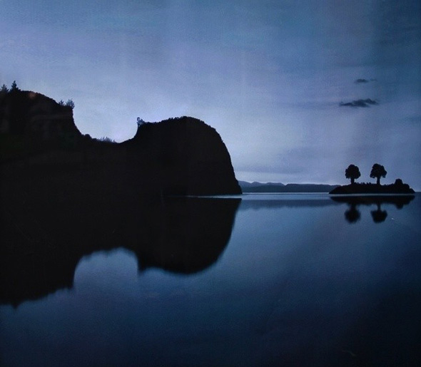Violin Islands Optical Illusion