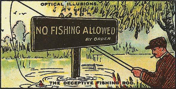 Deceptive Fishing Rod Optical Illusion