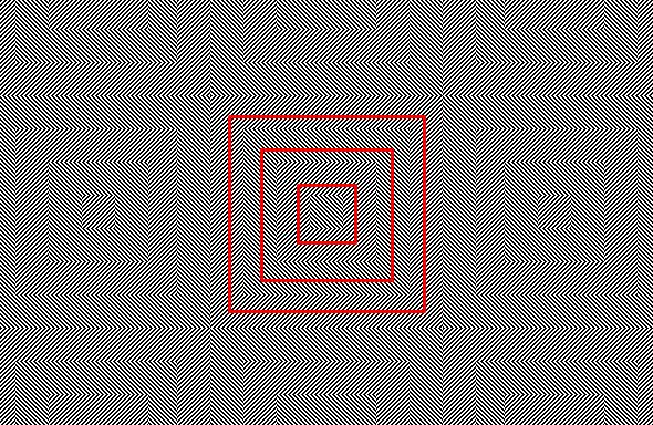 Crooked Squares Optical Illusion