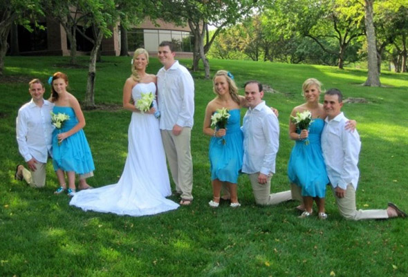 dwarf wedding optical illusion