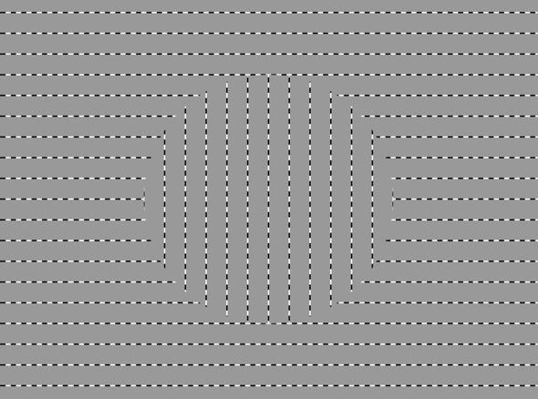 Ouchi Optical Illusion