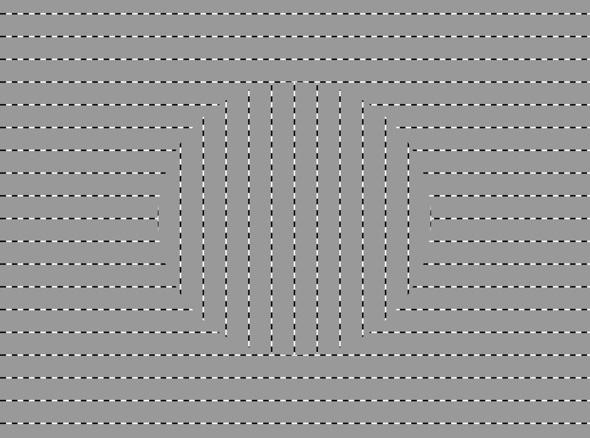 Ouchi Optical Illusion