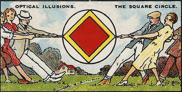 The Square Circle Optical Illusion