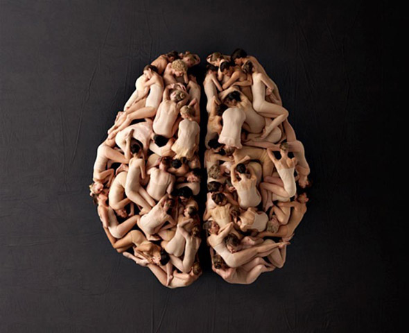 Human Brain made of people TEDxAmsterdam