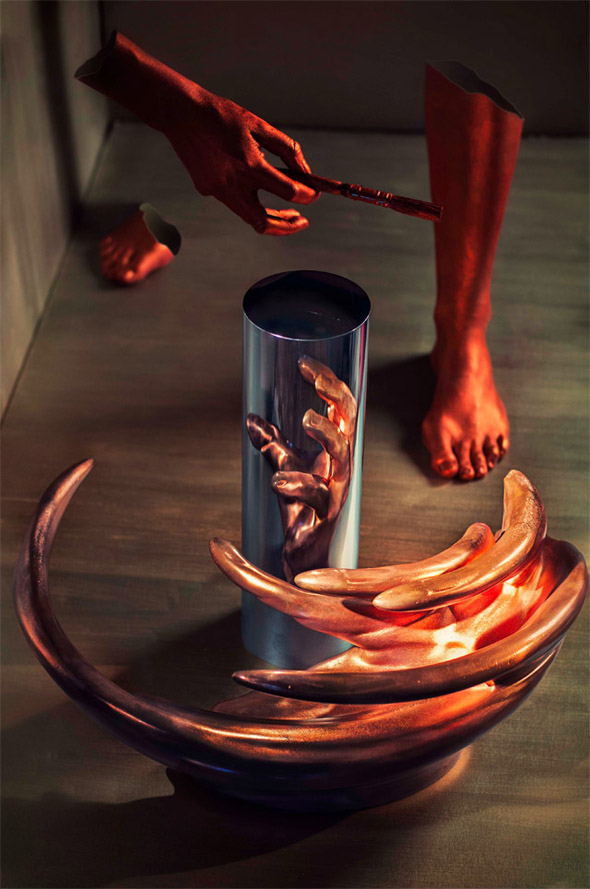 Anamorphic sculptures by J. Hurwitz