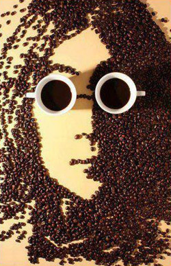 John Lennon Portrait in Coffee