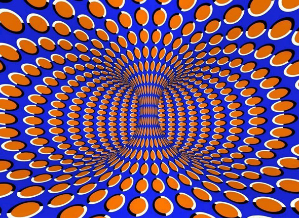 Spinning Vortex Illusion Pattern