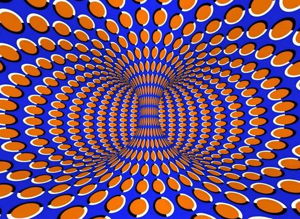 Spinning Vortex Illusion Pattern