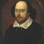 William Shakespeare -- probably. This famous 'Chandos' portrait isn't definitely verified, but experts think it's likely the famous playwright.