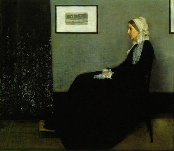 The painting known as 'Whistler's Mother,' by James McNeill Whistler.
