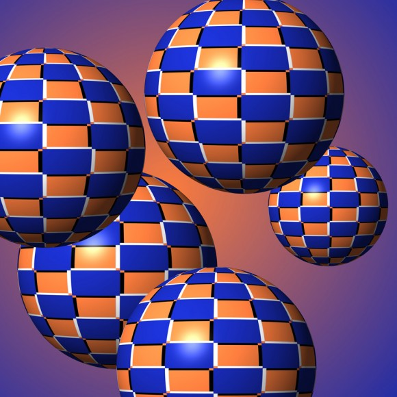 Floating Spheres Optical Illusion