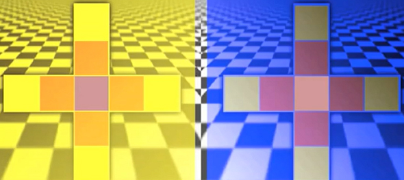 Color Tiles Illusion