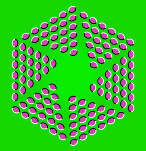 Breathing Hexagon Optical Illusion