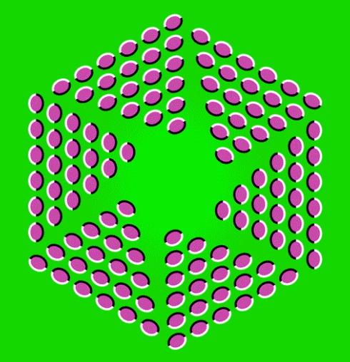 Breathing Hexagon Optical Illusion