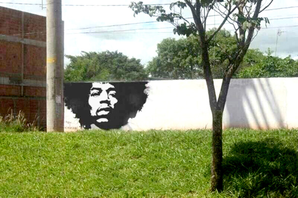 Jimmy Hendrix Street Art Graffiti