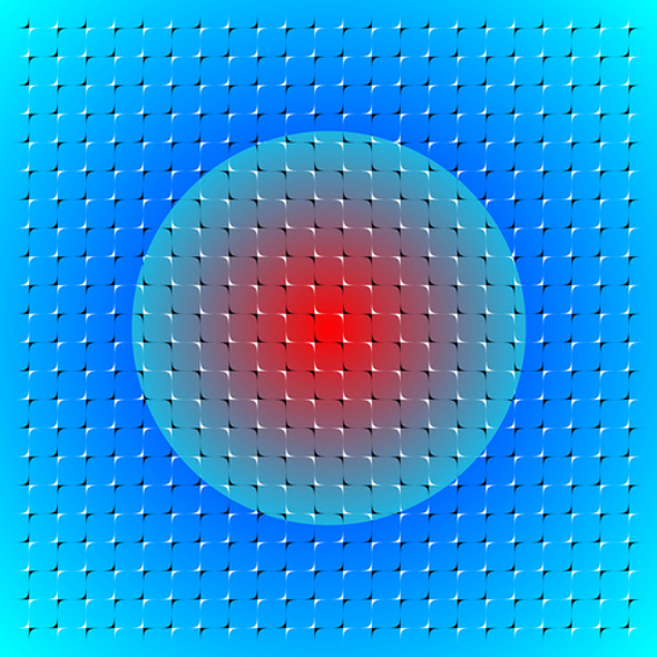 Floating Sphere Optical Illusion