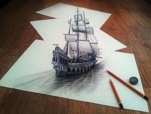 More 3D Pencil Art