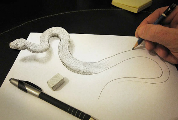 Drawings That Leap Off the Page