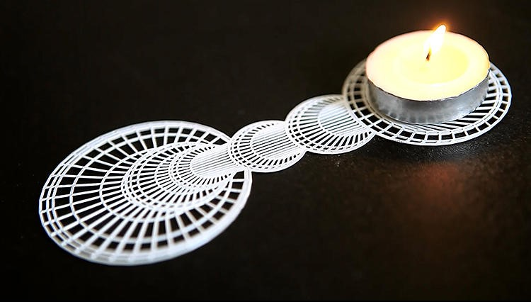 Check Out This 3 D Optical Illusion Candleholder
