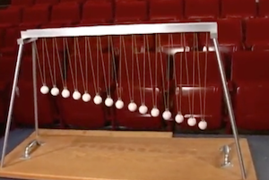 Pendulum Waves Illusion