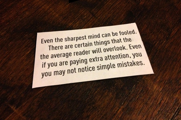Test for the Sharp Minded