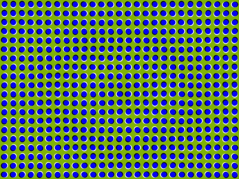 Brilliant Color Adapting Optical Illusion