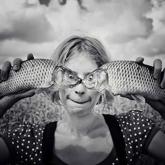 Fish Eyes Optical Illusion