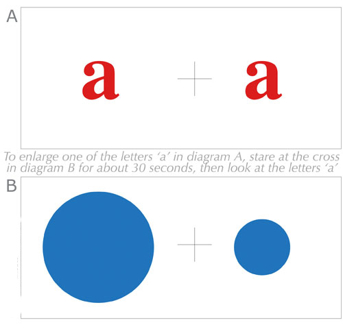 Larger Letter Optical Illusion
