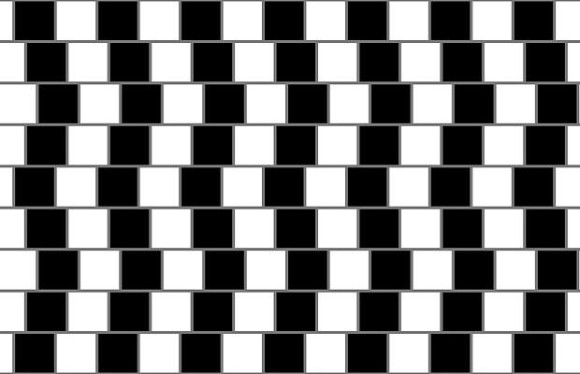 sloping lines optical illusion