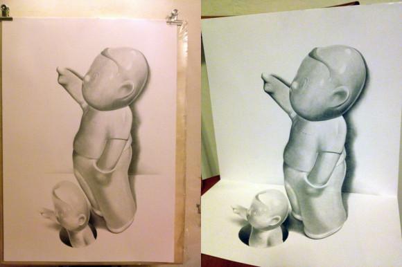 3D Boy Drawing