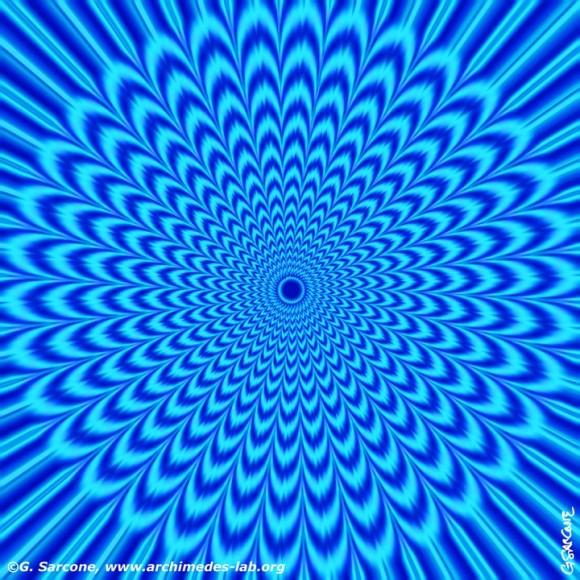 Blue Vortex Optical Illusion