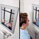 Jail Mirror Optical Illusion