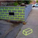 Missing Brick Optical Illusion