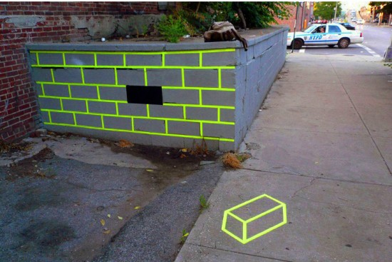 The Missing Brick Optical Illusion