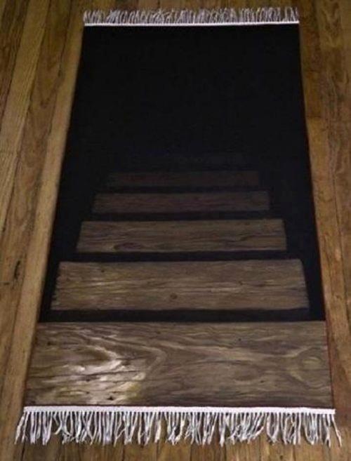 Descending Rug Optical Illusion