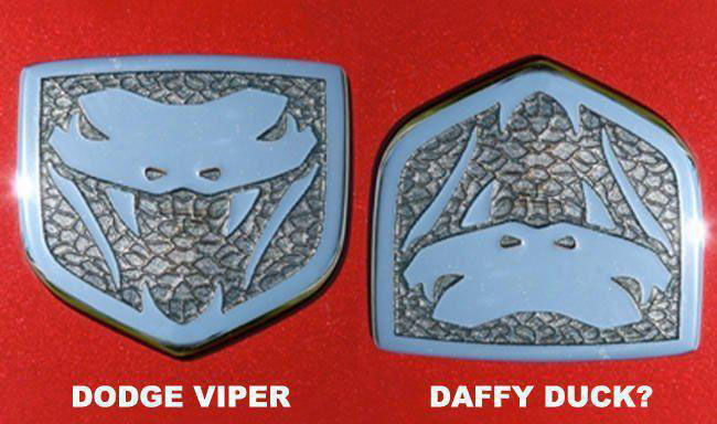Dodge Viper Optical Illusion
