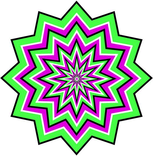 Green Pulsating Optical Illusion