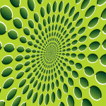 Green Spinner Optical Illusion