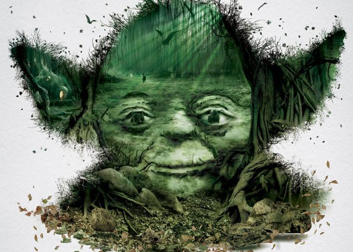 Star Wars Yoda Optical Illusion