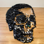 VHS Tape Skull Optical Illusion