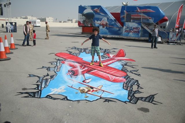3D Airplane Street Art