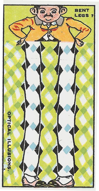 Bent Legs Optical Illusion