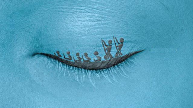 Eyelashes Optical Illusion