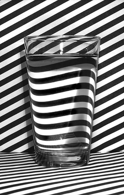 Glass of Water Optical Illusion