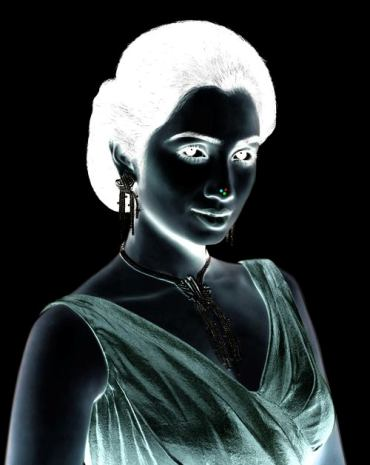 Pretty Lady Afterimage Optical Illusion