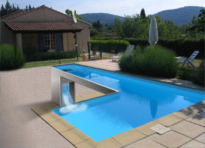 swimming pool optical illusion